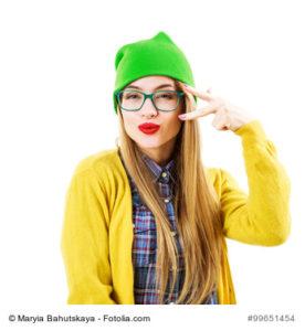 Hipster mit Beanie Mütze